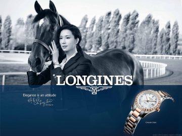浪琴表全球代言人林志玲戰勝摔馬恐懼,重現優雅身段為浪琴表拍攝全新馬術形象廣告