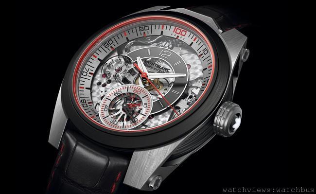 大膽採用創新材質、精緻工藝與專利計時,造就頂尖精準度:萬寶龍TimeWalker系列雙振頻100計時腕錶