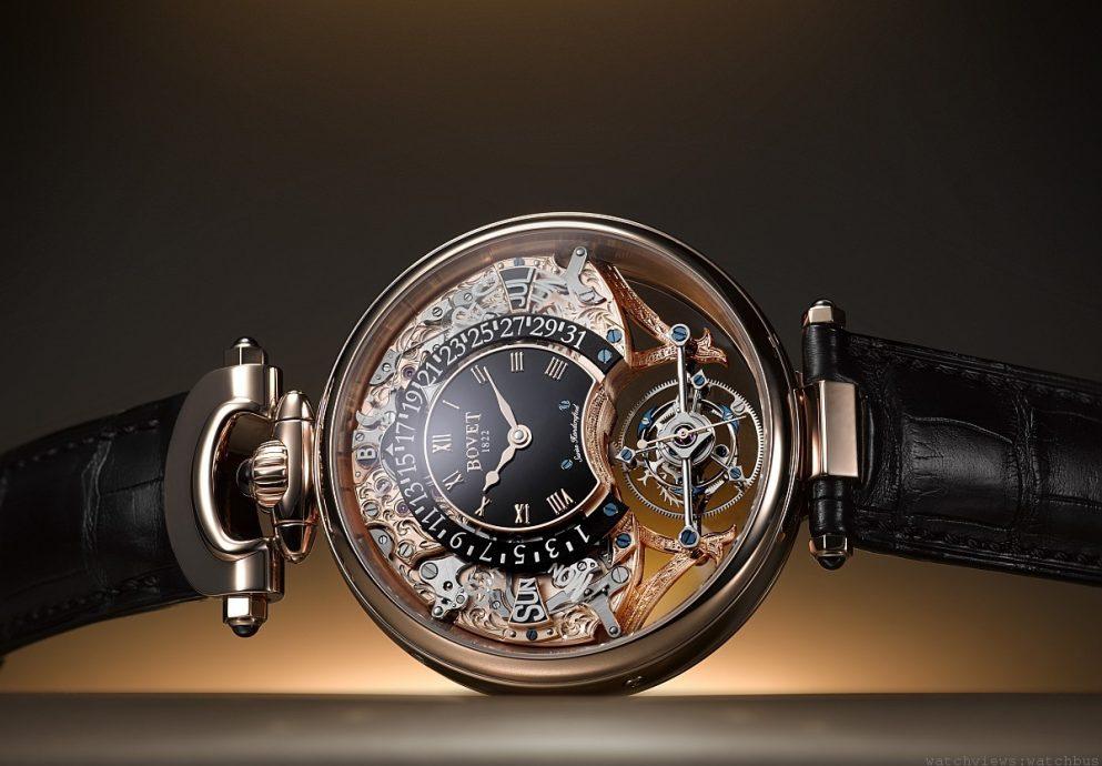 Bovet Amadeo Fleurier Tourbillon Virtuoso III逆轉手工裝嵌五天動力儲存逆跳萬年曆腕錶