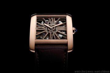 [2014 SIHH 卡地亞呈獻]<br> 標誌性機芯的優雅與個性:Tank MC雙色鏤空腕錶