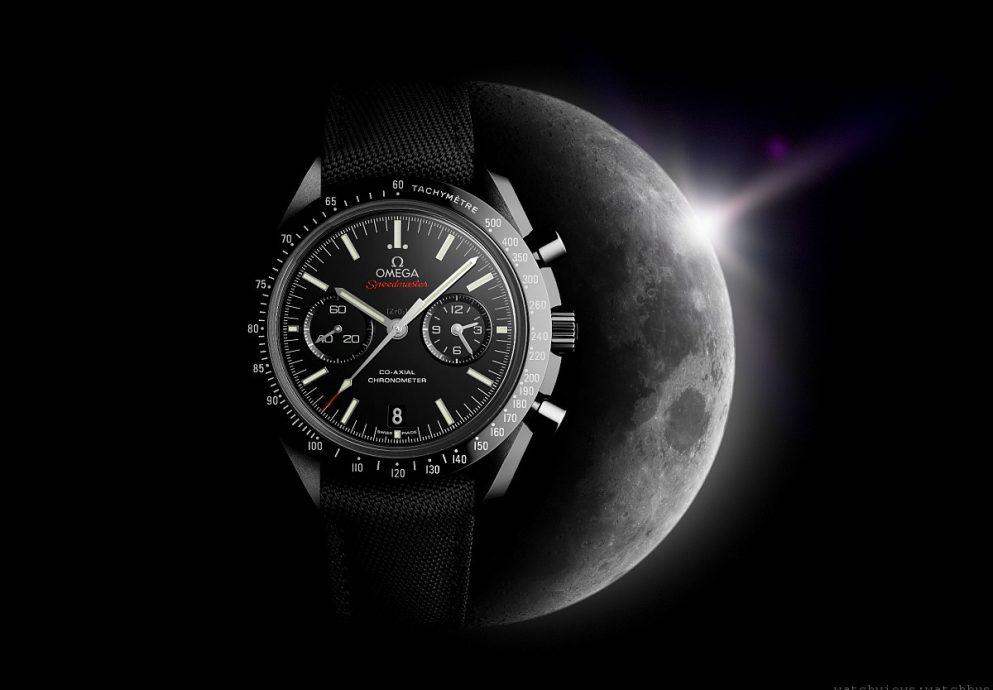 重新詮釋代表性設計:OMEGA超霸「月之暗面」黑色陶瓷計時碼錶