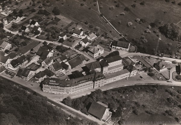 1953年拍攝的Oris工場照片,1904年起Oris便在此駐紮發展。