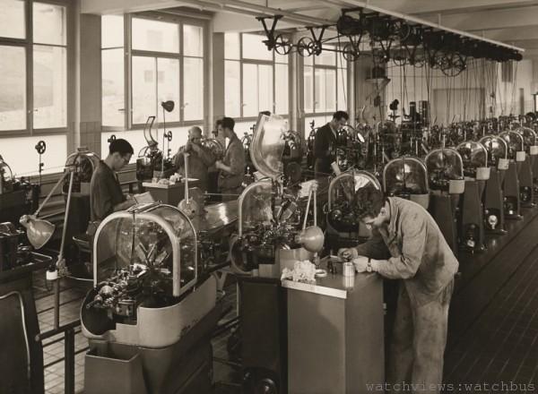 1945年的Malleray工廠 – Oris為了調節20世紀初的快速成長,而開設的多家工廠之一。