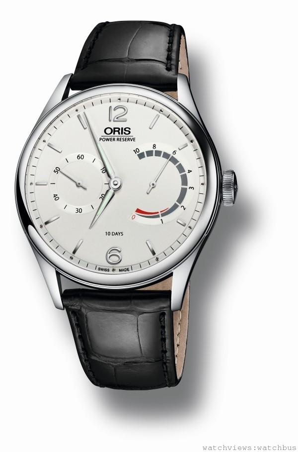 Caliber 110十日鍊腕錶不鏽鋼錶殼版本