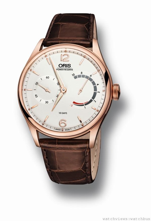Caliber 110十日鍊腕錶玫瑰金錶殼版本