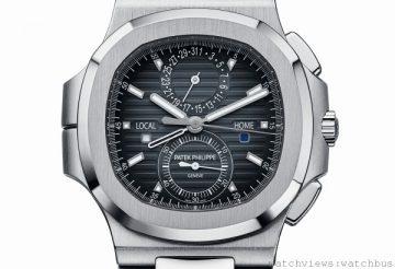 [2014 Basel] 百達翡麗推出Nautilus編號5990/1A兩地時間計時碼錶與及Ref.5960/1A鋼製年曆計時碼錶