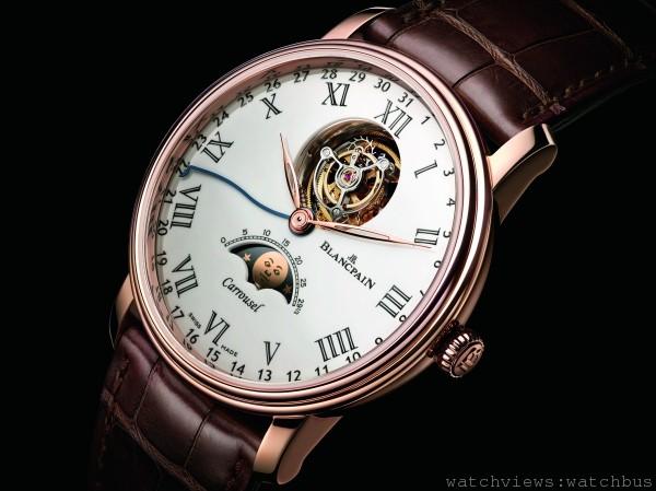 [2014 Basel] Blancpain首創卡羅素月相腕錶Villeret Carrousel Phases de Lune