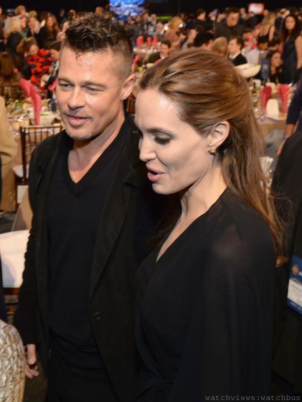 布萊德彼特與妻子安潔莉娜裘莉