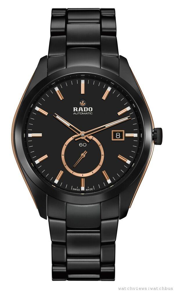 雷達表HyperChrome皓星系列高科技陶瓷小秒針自動腕錶 霧黑款