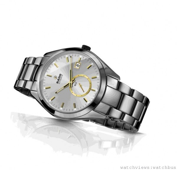 雷達表HyperChrome皓星系列高科技陶瓷小秒針自動腕錶 銀色款