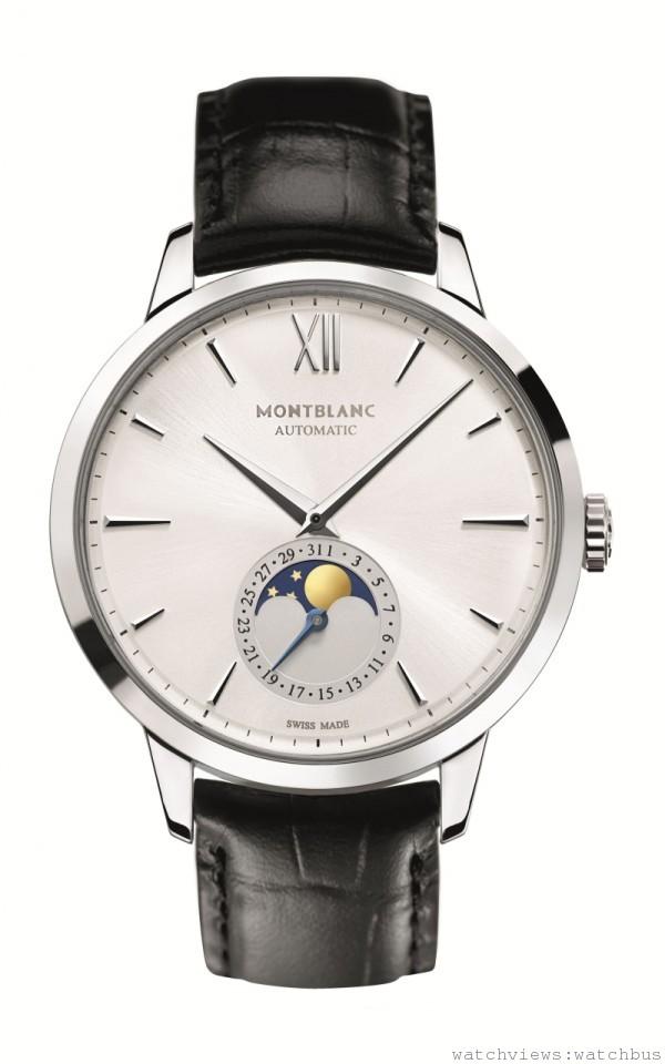 萬寶龍Meisterstück Heritage系列月相腕錶,建議售價約NT$136,600。