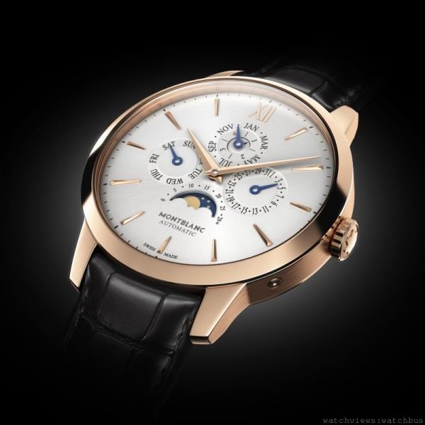 萬寶龍Meisterstück Heritage系列萬年曆腕錶,建議售價約NT$661,500。