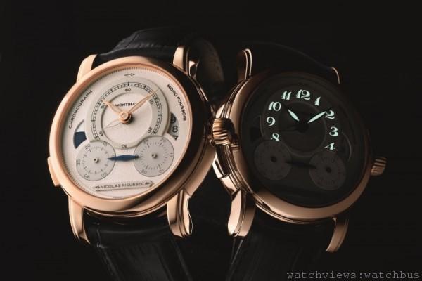 萬寶龍Nicolas Rieussec系列計時腕錶年度致敬限量玫瑰金款,售價約NT$1,053,000。