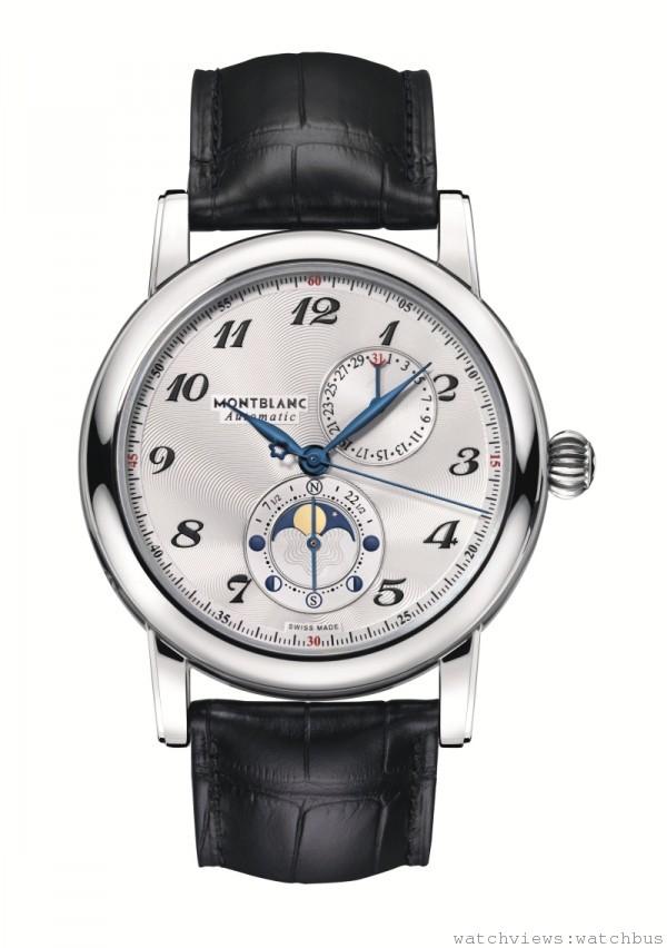 萬寶龍Star系列雙月相腕錶(Twin Moonphase),建議售價約NT$162,500。