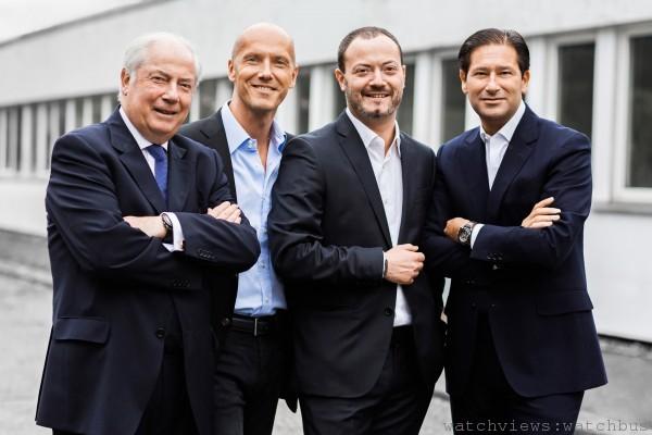 Manufacture Royale目前的經營團隊,左起Gérard Gouten、David Gouten、Alexis Gouten和Marc Guten