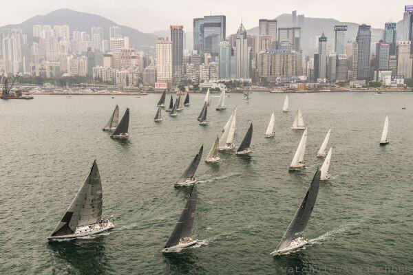 第27屆「勞力士中國海帆船賽」Rolex China Sea Race於香港維多利亞港盛大啓航
