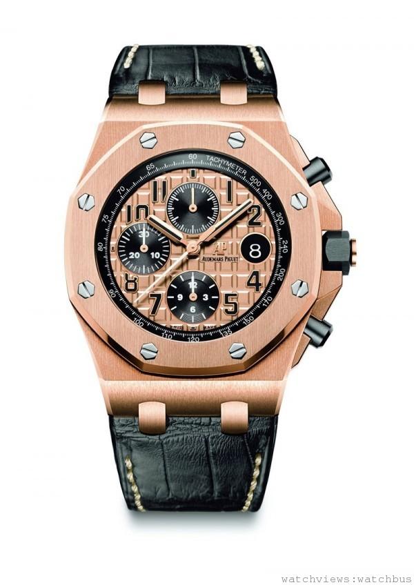愛彼皇家橡樹離岸型42毫米玫瑰金計時碼錶,售價NTD1,250,000