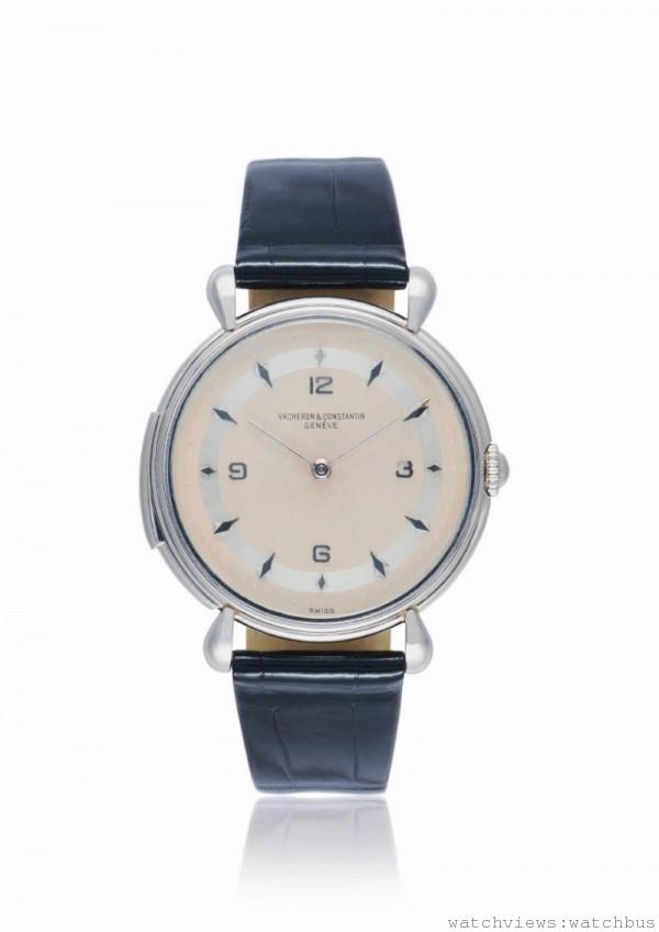 1955年鉑金三問報時腕錶,機芯直徑13法分、厚度.28毫米