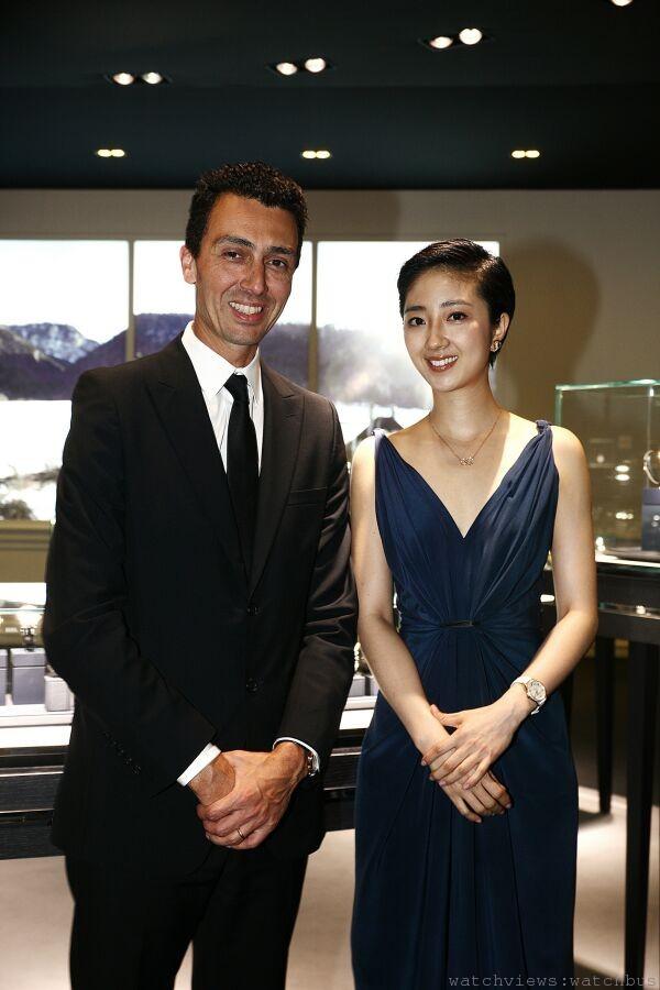萬寶龍亞太區總裁Julien Renard(左)與全新萬寶龍中國地區品牌大使桂綸鎂。