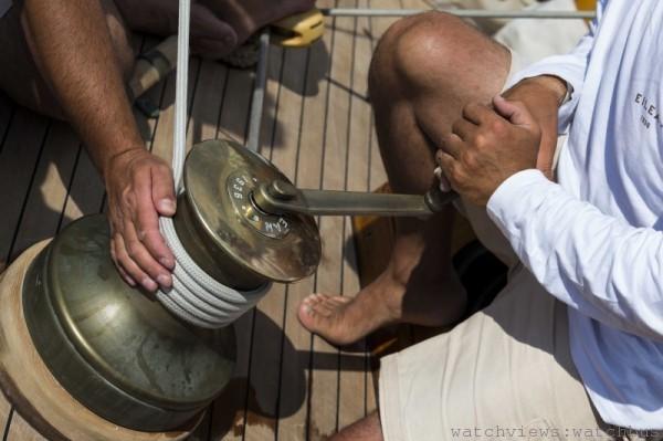 Eilean號帆船手參加2013年Vele d'Epoca a Napoli帆船賽