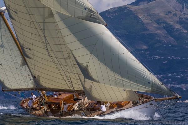 Eilean號帆船參加2013年Vele d'Epoca a Napoli帆船賽情景