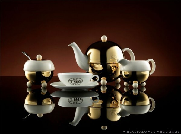 TWG Tea現代藝術茶壺系列,茶壺建議售價:NT$ 19,740元;糖罐建議售價:NT$ 6,920元;奶盅建議售價:NT$ 6,920元。