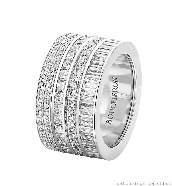 Quatre 全鑽戒,187顆鑽石  共5.15克拉,價格依尺寸大小更動,請店洽。