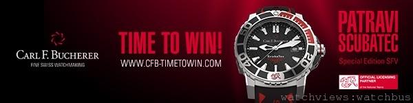 只要登入網站http://www.cfb-timetowin.com/en/,預測瑞士隊在本屆世界盃足球賽之總入球數,將有機會贏得寶齊萊贊助瑞士隊的紅色特別版柏拉維ScubaTec潛水腕錶。