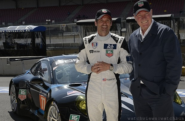TAG Heuer贊助Dempsey Racing 車隊與派屈克ž丹普西(Patrick Dempsey)攜手再戰勒芒24小時耐力賽巔峰之旅