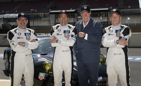 由左至右 : Joe Foster, Patrick Dempsey, Jean-Claude Biver, Patrick Long