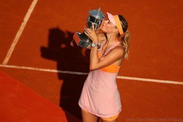 TAG Heuer豪雅攜手名將Maria Sharapova莎拉波娃贏得法網女單冠軍,譜寫法網傳奇