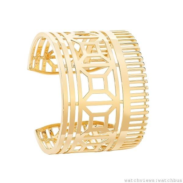 Quatre 黃K金手環,18K黃K金,定價NTD 1,120,000