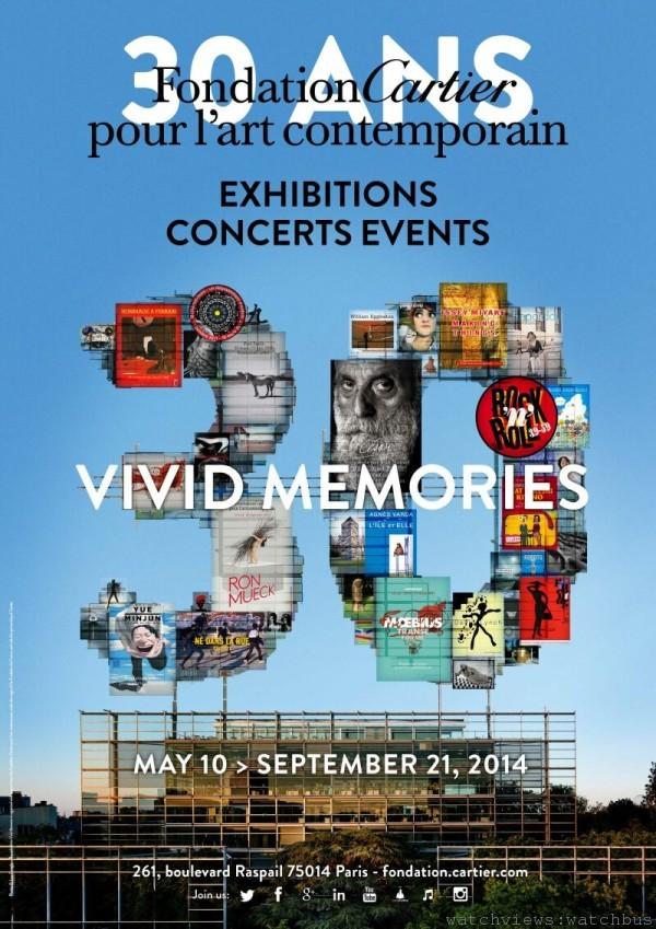 Fondation Cartier pour l'artcontemporain卡地亞藝術基金會慶祝三十週年紀念,盛大舉行展覽