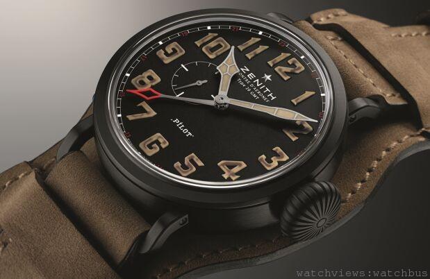 向天空的極限挑戰:ZENITH PILOT飛行員系列MONTRE D'AÉRONEF TYPE 20 GMT 1903飛行員兩地時間限量腕錶