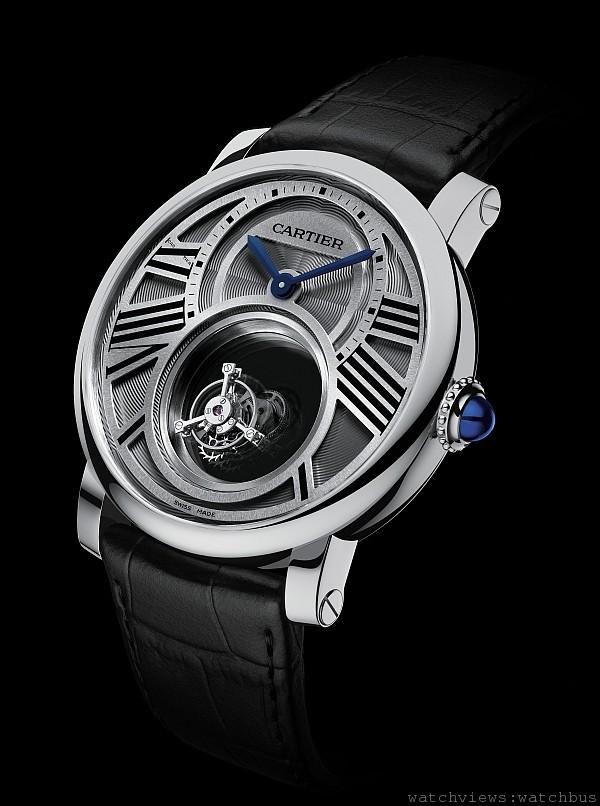 Rotonde de Cartier Double Tourbillon Mystérieux 雙重神秘陀飛輪腕錶