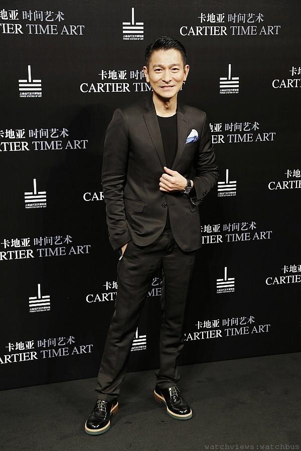 巨星劉德華出席卡地亞時間藝術展開幕典禮
