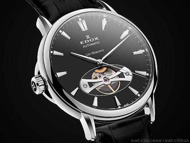 130周年的瑞士製錶傳承:EDOX全新鏤空鉅作──Les Bemonts 薄曼系列Open Vision Automatic自動鏤空腕錶