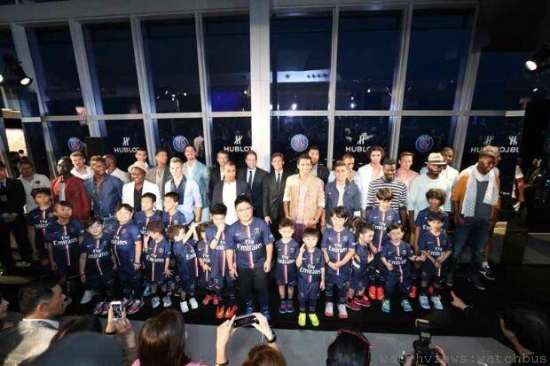 宇舶錶熱烈歡迎巴黎聖日耳曼足球俱樂部造訪香港,攜手舉辦時裝表演及慈善晚宴