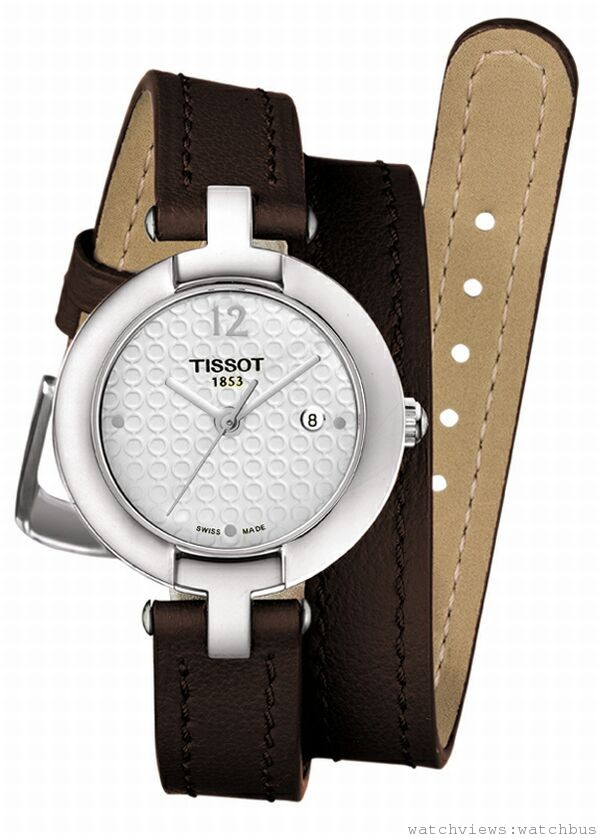 Pinky by TISSOT粉紅佳人腕錶,瑞士石英機芯,抗磨損藍寶石水晶鏡面,316L精鋼錶殼 ,真皮錶帶搭配標準錶扣 ,防水深度30米,建議售價NT$ 8,700。
