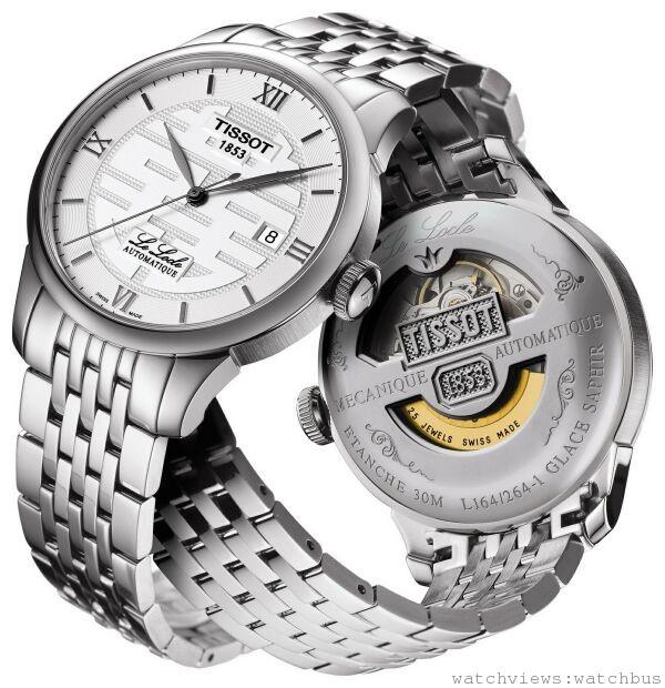 TISSOT Le Locle Double Happiness力洛克系列自動腕錶 喜字特別版,瑞士ETA2824自動機芯,立體羅馬數字時標與浮刻於面盤上的「囍」字,抗磨損藍寶石水晶鏡面,時、分、秒,日期顯示, 316L精鋼錶殼錶帶,防水深度30米,建議售價NT$ 19,500。