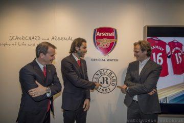 JEANRICHARD尚維沙腕錶榮膺英超超級球會Arsenal全球合作夥伴,發表特別版Terrascope腕錶與限量版Aeroscope計時碼錶