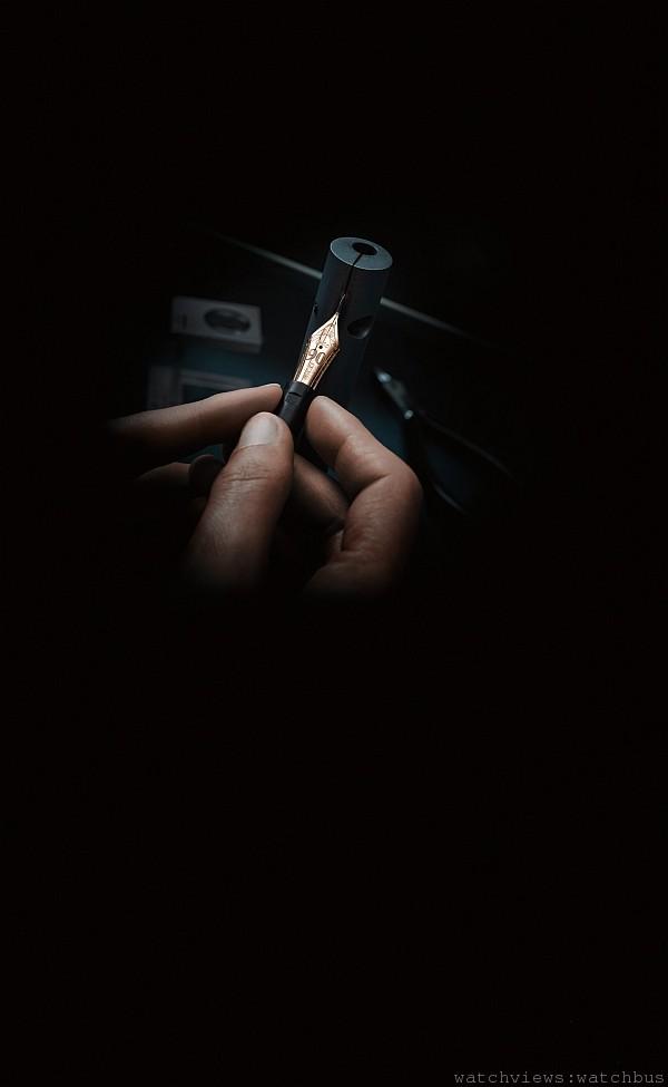 萬寶龍鋼筆筆尖打磨工藝