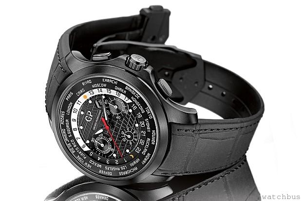 GP 芝柏表Traveller WW.TC世界時間腕錶鈦金DLC型號
