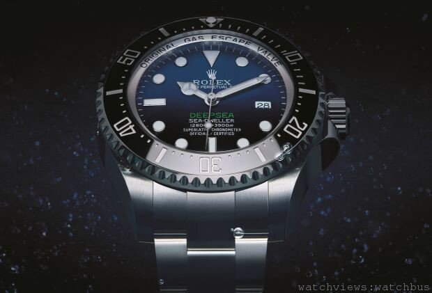 "ROLEX發表全新DEEPSEA ""D-BLUE DIAL"" 藍黑雙色錶面腕錶"