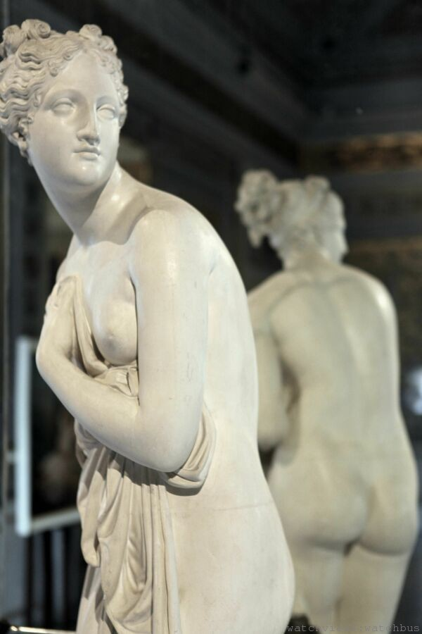 威尼斯科雷爾博物館館藏─安東尼奧_卡諾瓦雕塑作品《Venere Italica》,1811