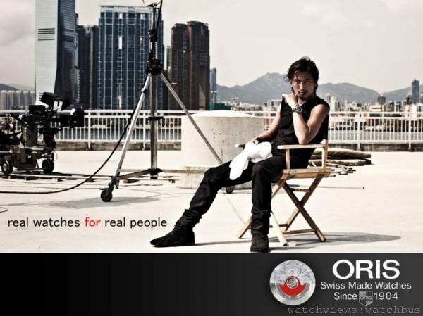 香港知名藝人及企業家謝霆鋒自2011年八月起即擔任瑞士百年機械錶品牌ORIS的合作夥伴,擔任品牌大使。在其職業生涯中,謝霆鋒總是全力以赴。其不僅僅是一位出色的演員,更同時擁有歌手、導演、製作人等多重角色。不論擔任何種身分,謝霆鋒皆充滿自信,並保有努力不懈、鍥而不捨的專業精神,正與ORIS的品牌哲學相互呼應。