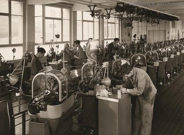 圖為1945年ORIS工廠一隅