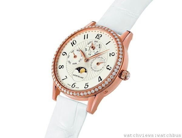 萬寶龍Boheme寶曦系列萬年曆女仕珠寶腕錶,NT$795,500。