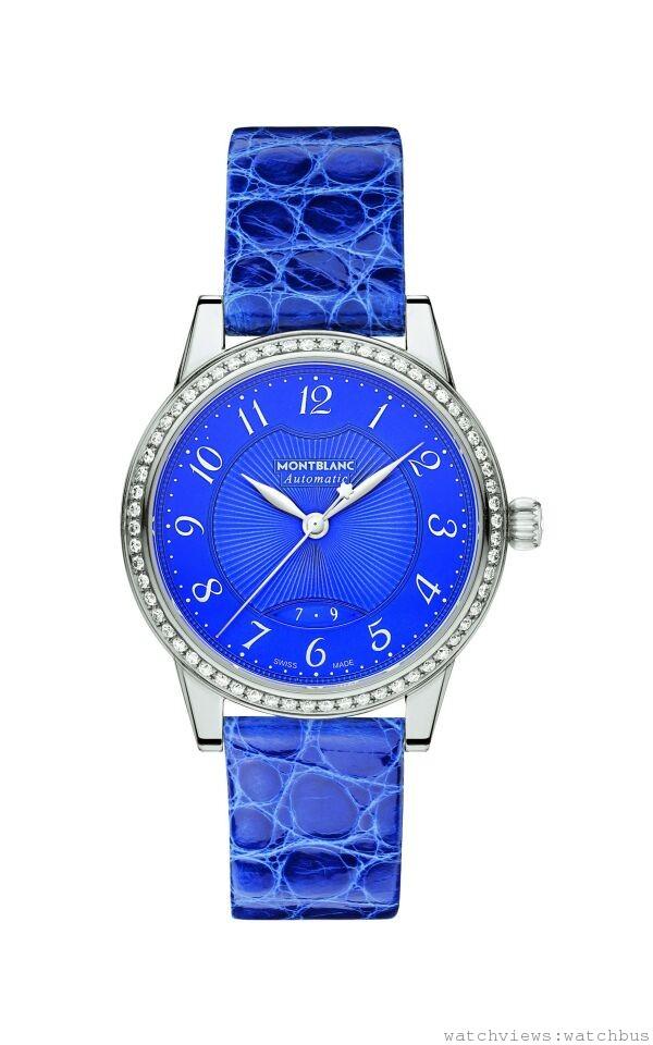 萬寶龍Boheme寶曦系列寶藍鑲鑽自動女仕腕錶,NT$162,800。