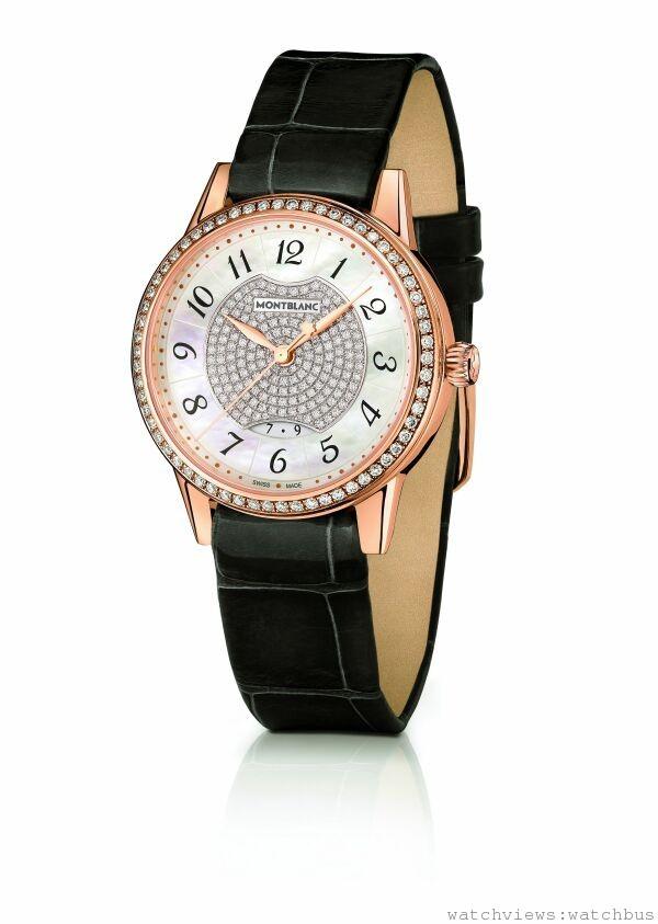 萬寶龍Boheme寶曦系列自動女仕珠寶腕錶,NT$513,400(桂綸鎂配戴款)